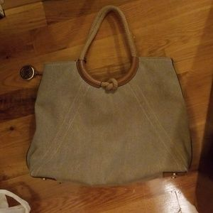 M Kors, canvas-leather tote